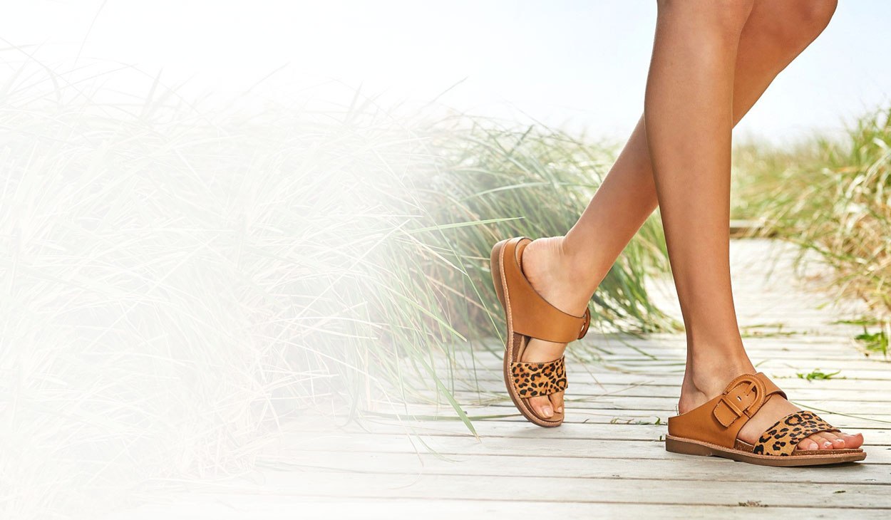 Featured Style: The Braye sandal, shown in Luggage-Tan.